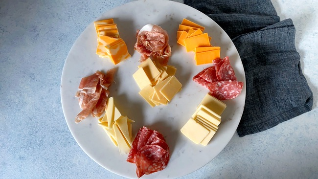 Meat and Cheese Board from thelittlekitchen.net