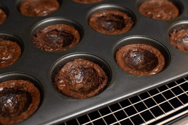 How to Make Brownie Cups from thelittlekitchen.net