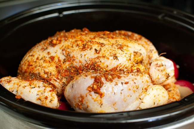Crockpot Chicken and Potatoes from thelittlekitchen.net