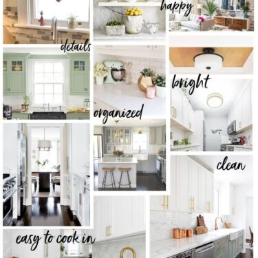 collage of images for The Little Kitchen remodel